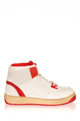 Toral |  High leather sneakers Liv | white