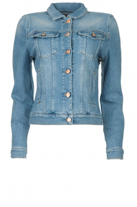 7 For All Mankind |  Short denim jacket Modern trucker | blue
