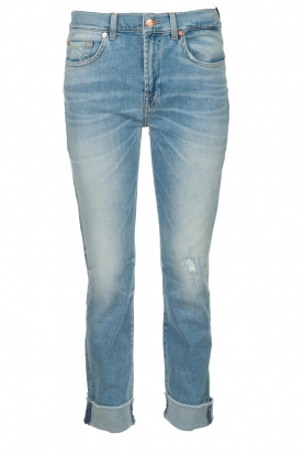 7 For All Mankind |  Fringed jeans Relaxed skinny | blue