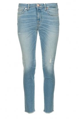 7 For All Mankind | Ripped jeans Pyper crop | light blue