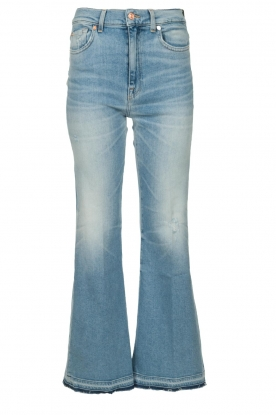 7 For All Mankind |  Fringed flared jeans Flare Crop | blue