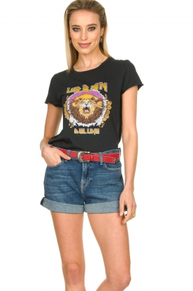 7 For All Mankind   Boy shorts Tania   blue