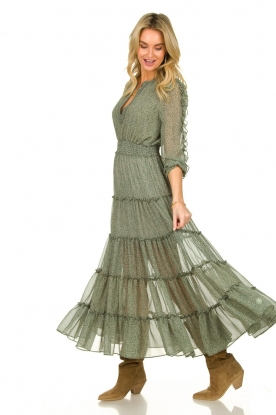 Misa Los Angeles |  Maxi dress with ruffles Hayeda | green