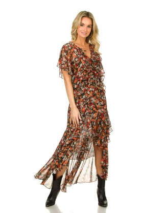 Misa Los Angeles |  Maxi dress with volant Katarina | multi