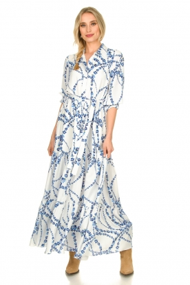 Misa Los Angeles |  Floral maxi dress Evangeline | blue