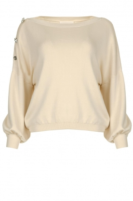 ba&sh |  Sweater with diamond buttons Bushy | naturel
