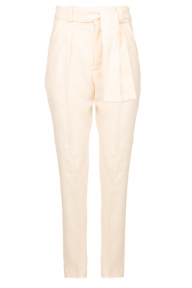ba&sh |  Straight fit trousers Tiago | natural