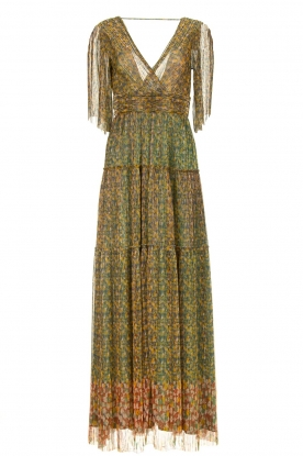 ba&sh | Lurex maxi dress with print Perla | green