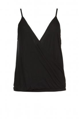 ba&sh    Sleeveless V-neck top Miguel   black