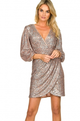 Nenette |  Sequin dress Ajar | nude