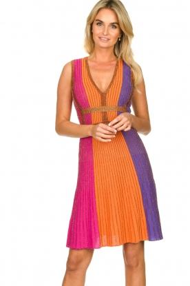 Nenette |  Knitted glitter dress Tua | pink