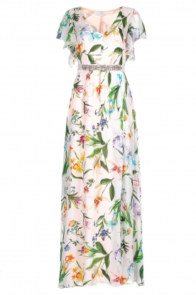 Nenette |  Floral maxi dress Audace | white