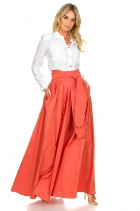 Nenette |  Maxi skirt Gasper | pink