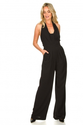 Nenette |  Pleated jumpsuit Halois | black