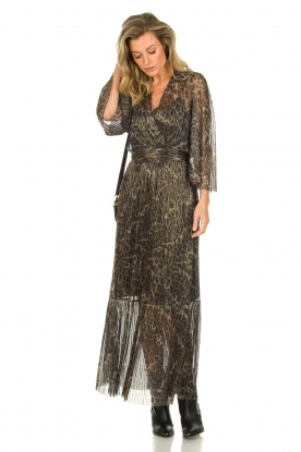 Dante 6 |  Maxi dress with leopard print Fairytale | animal print
