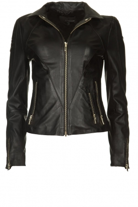 STUDIO AR BY ARMA |  Leather jacket Cherry | black