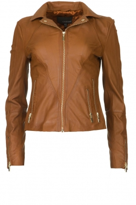 STUDIO AR BY ARMA |  Leather jacket Cherry | brown