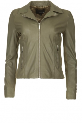STUDIO AR BY ARMA |  Leather jacket Kendall | khaki