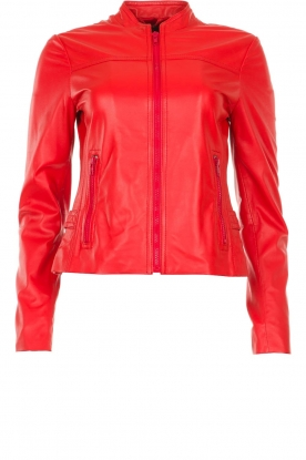 STUDIO AR BY ARMA |  Leather jacket Tuya | red
