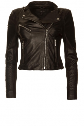STUDIO AR BY ARMA |  Short leather jacket Gaga | black