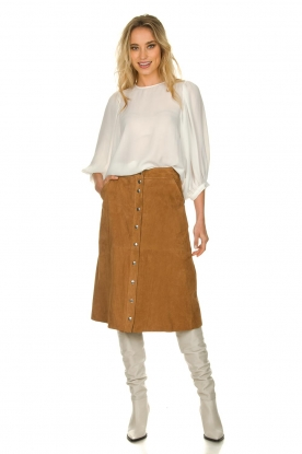 STUDIO AR BY ARMA |  Suede rok Vender | brown