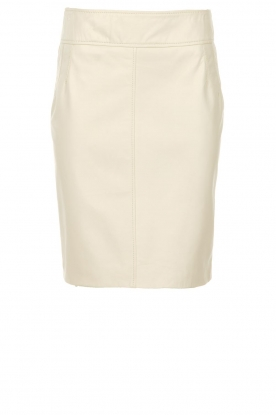 STUDIO AR BY ARMA |  Leather skirt Carly | natural