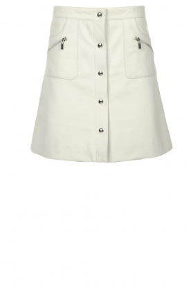 STUDIO AR BY ARMA |  Leather skirt Lys | white