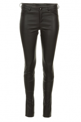 STUDIO AR BY ARMA |  Leather stretch pants Issie | black