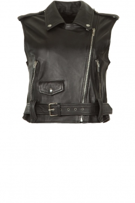 STUDIO AR BY ARMA |  Leather waistcoat Moon | black