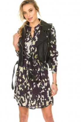 STUDIO AR BY ARMA |  Leather waistcoat Moon | black
