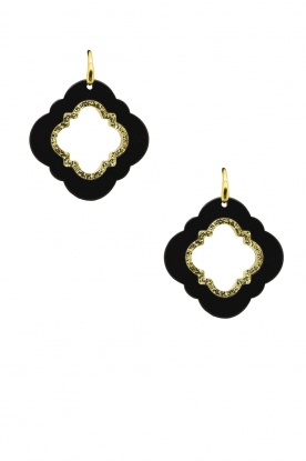 Miccy's | Earrings Caviar | black