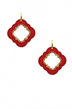 Miccy's | Earrings Caviar | red