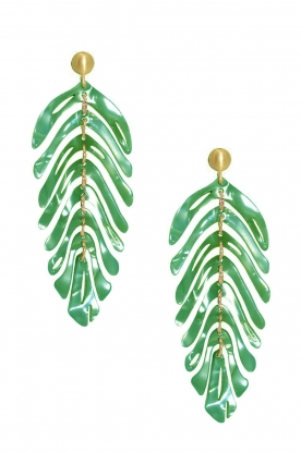 Miccy's |  Earrings Leaf | green