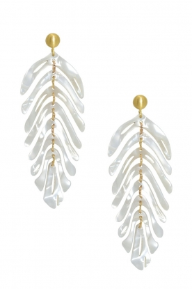 Miccy's | Earrings Leaf | white
