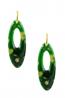 Miccy's | Earrings Oval | green