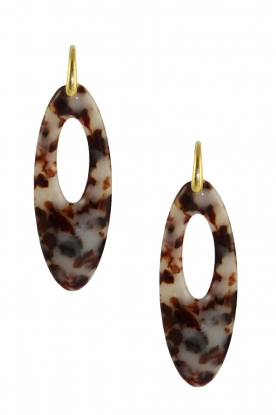Miccy's | Earrings Oval | brown