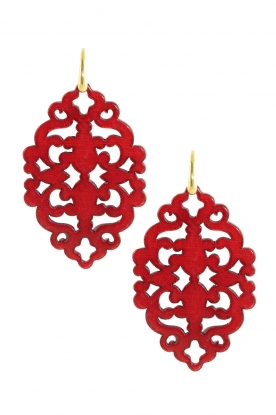 Miccy's |  Earrings Azulejo | red
