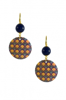 Miccy's | Earrings Mop Pattern | blue