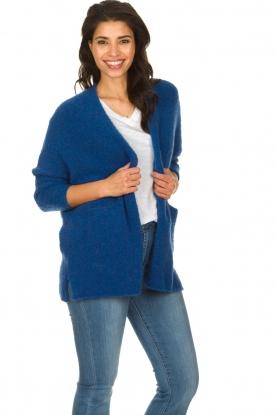 American Vintage |  Woollen cardigan Fogwood | blue