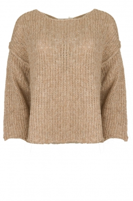 American Vintage |  Knitted alpaca mix sweater Piuroad | beige