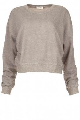American Vintage |  Sweater with round collar Eliotim | grey