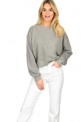 American Vintage |  Sweater with round collar Eliotim | grey