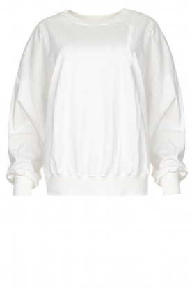American Vintage |  Sweater with round collar Wititi | white