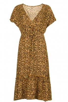 Freebird |  dierenprint | Leopard print dress Tara