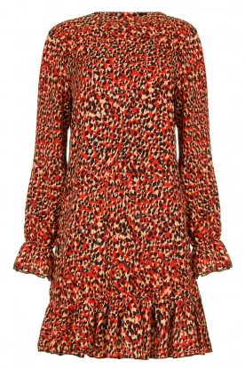 Freebird | Leopard printed dress Diba | red