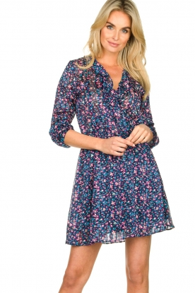 Freebird | Dress with flower print Gianna | blue