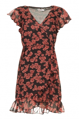 Freebird |  Floral dress Rosy | black