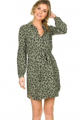 Freebird |  Leopard dress Reena | green