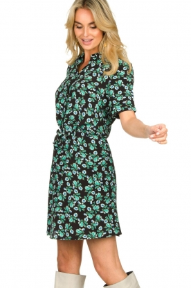 Freebird |  Mini dress with flower print Suzy | green