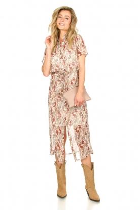 Freebird | Maxi-jurk met bloemenprint Harper | wit